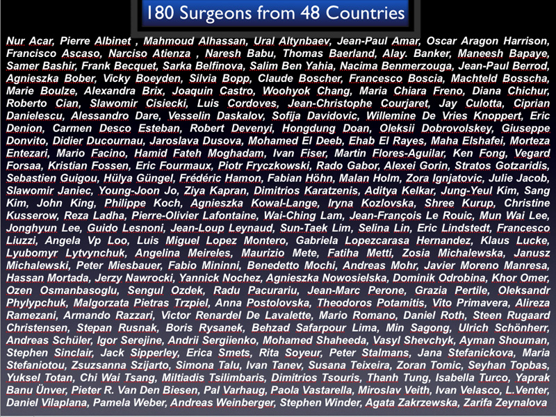 180 surgeons from 48 countries