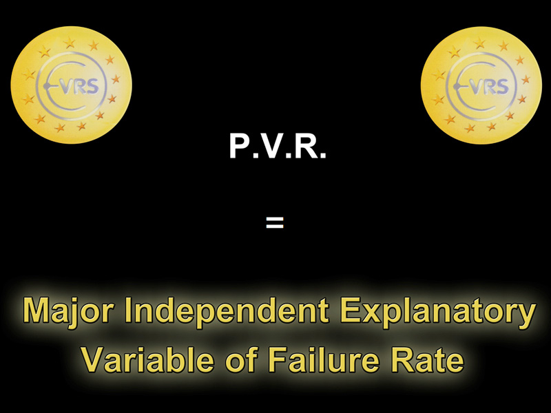We can confirm that PVR stage can be considered as a main independent explanatory variable of failure rate. The multivariate analysis shows that only PVR stage C1 is a major independent variable of the effective failure rate.