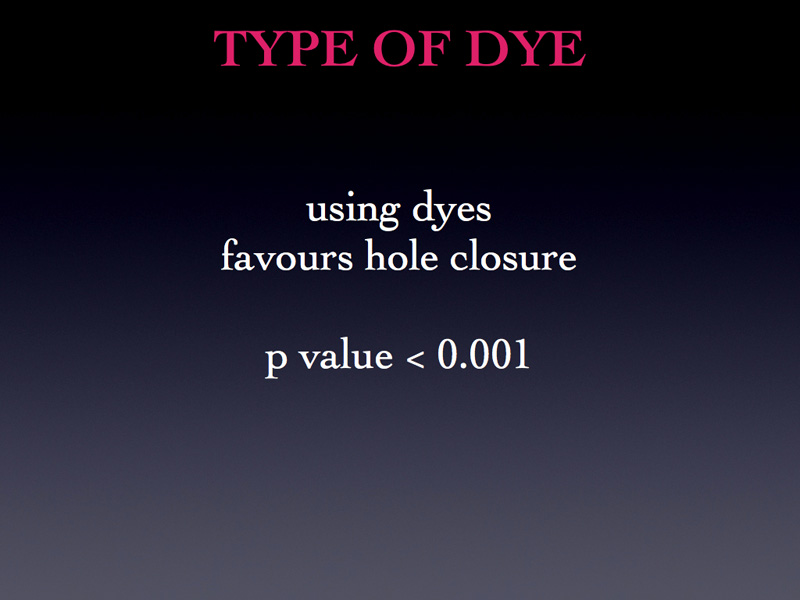 What about dyes: well, it is certainly better to use a dye.