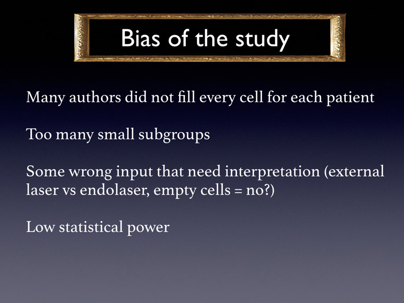 There were biases in the study.